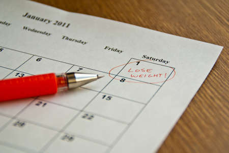 A New Years resolution  Stock Photo