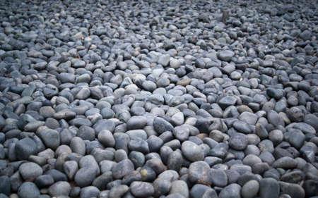 Black pebble background Stock Photo
