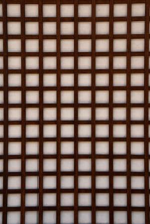 Closeup of a Japanese paper screen window (shoji)