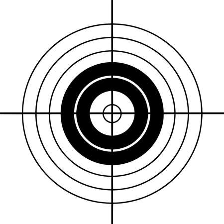 Vector silhouette of Archery on white background