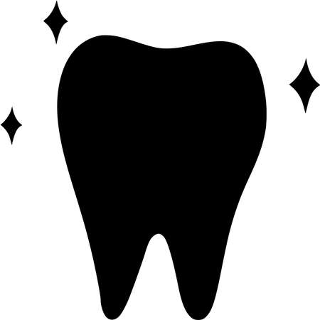 Vector silhouette of Tooth on white background Vecteurs