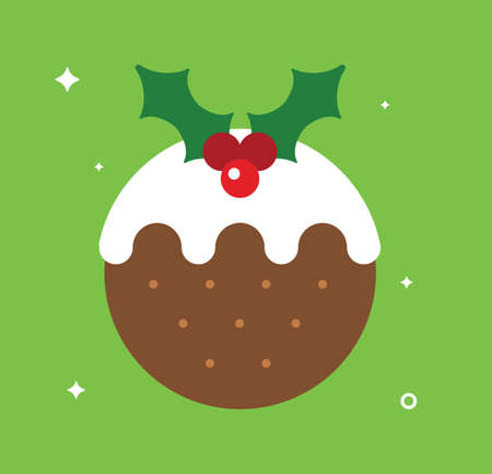 Christmas Pudding isolated on plain background