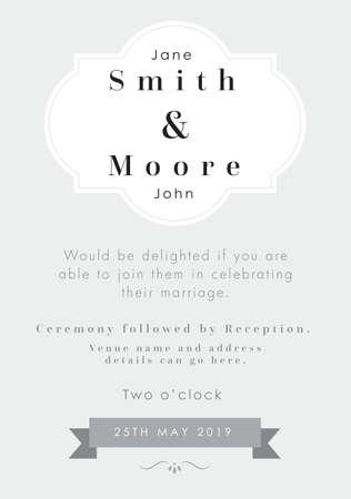 Silver theme - Wedding invitation