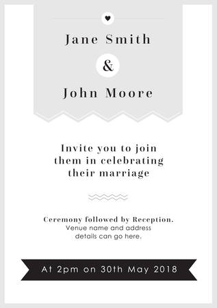 Love Grey Tag theme - Wedding invitation