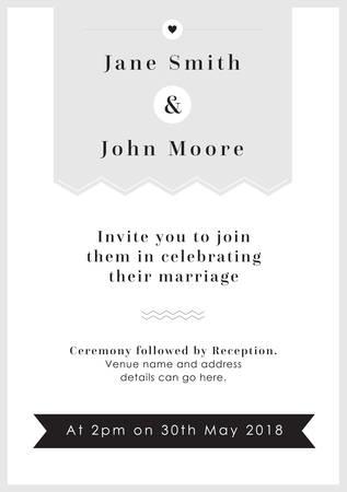 Love Grey Tag theme - Wedding invitation