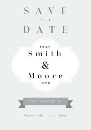 Silver theme - Save the date invitation