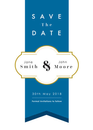 Blue theme - Save the date invitation