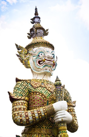 The statue outside temple in Thailand is now the capital of Thailand.