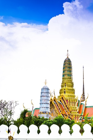 Buddhist Temple of Wat Phra Kaew, Popular Tourist Attraction by the Grand Palace in Bangkok, Thailand