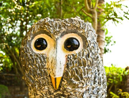 The owl statue in the park, Bangkok, Thailand. Stock Photo