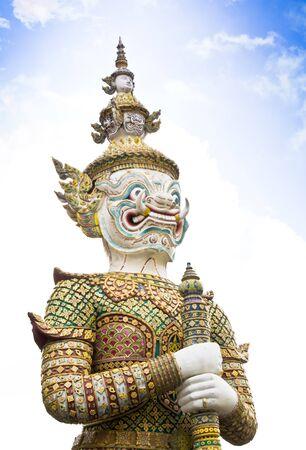 Giant Statue in Wat Phra Kaew in Bangkok, Thailand