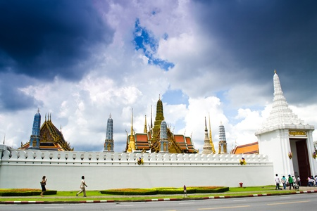 Buddha Temple in Grand Palace , Thailand ,Wat Phra Kaew , The most famous temple in the world.
