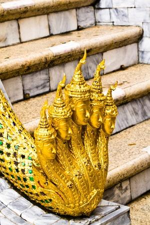 Snake statues at Wat Phra Kaew, Bangkok, Thailand.