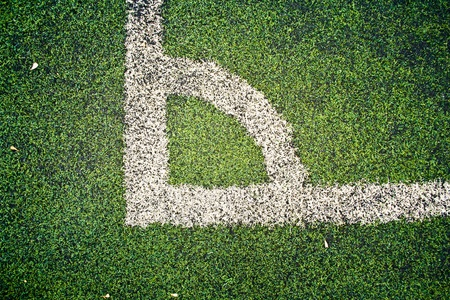 A corner of the football field, called