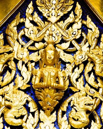 Golden statues of angels.
