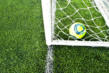 Yellow ball into the goal.