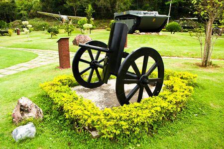 Antique guns of the Royal Thai Navy.