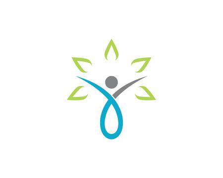 Human character logo sign Health care logo sign.