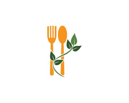 fork and spoon icon vector template Stock Illustratie