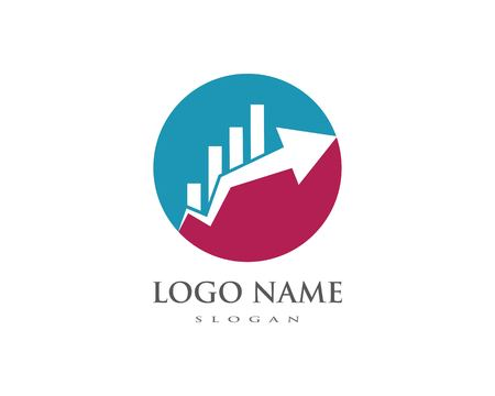 Business Finance professional logo template vector icon Ilustrace