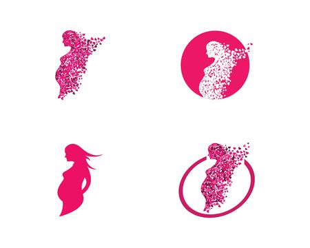 beauty pregnant women vector icon template Ilustracja