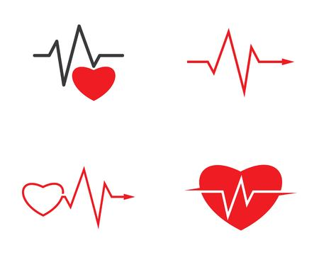 heart beat line vector ilustration