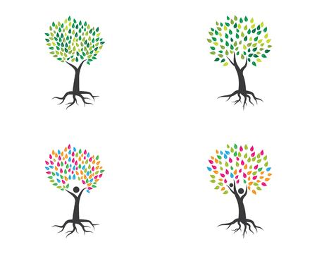 Tree icon logo template vector illustration 向量圖像