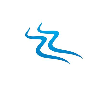 Water Wave symbol and icon Logo Template vector Standard-Bild - 109315889