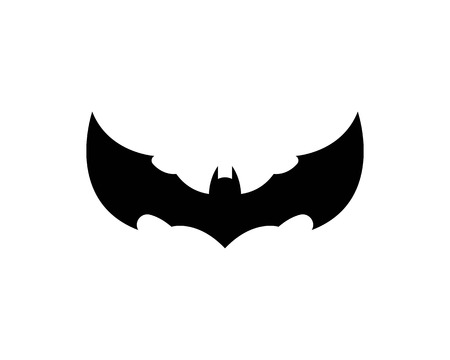 bat ilustration  logo vector Standard-Bild - 110723081