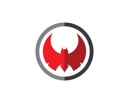 bat ilustration  logo vector Vettoriali