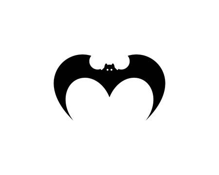 bat ilustration  logo vector Standard-Bild - 110732980