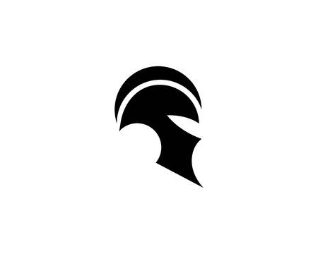 spartan helmet logo vector icon template Stock Vector - 110737764