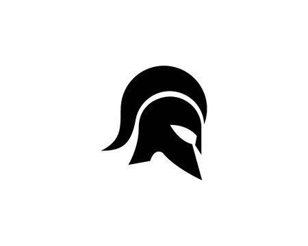 spartan helmet logo vector icon template
