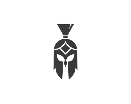 spartan logo vector icon template