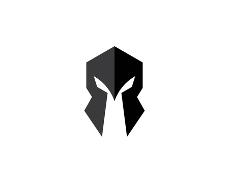 spartan helmet logo vector icon template