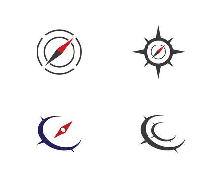 Compass Logo Template vector icon illustration design