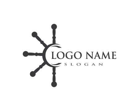 yacht Logo Template vector icon design