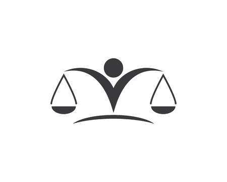 law logo vector template Stock fotó - 112811918