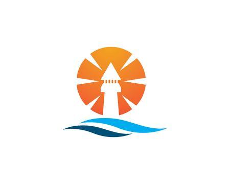 Light House Logo Template Foto de archivo - 112811998