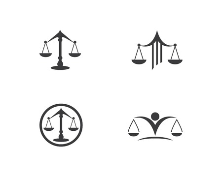 law logo vector template