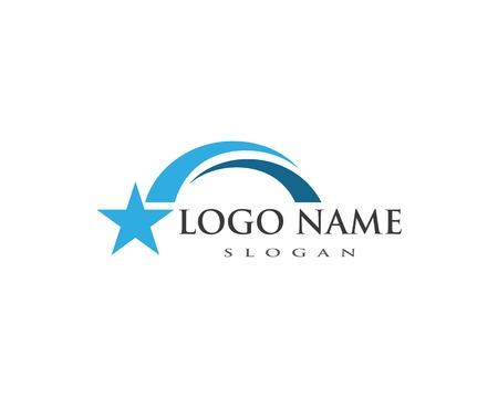 Star bridge ilustration logo vector template 写真素材 - 113221636