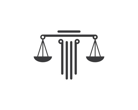 law logo vector icon template