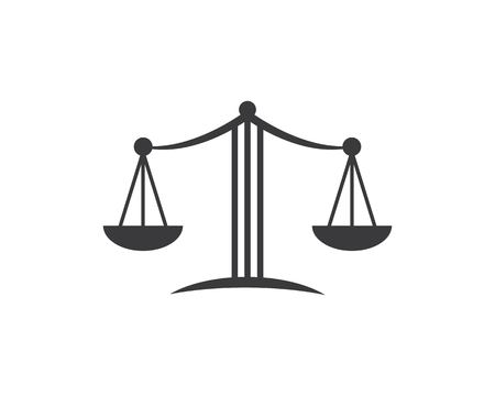 law logo vector icon template