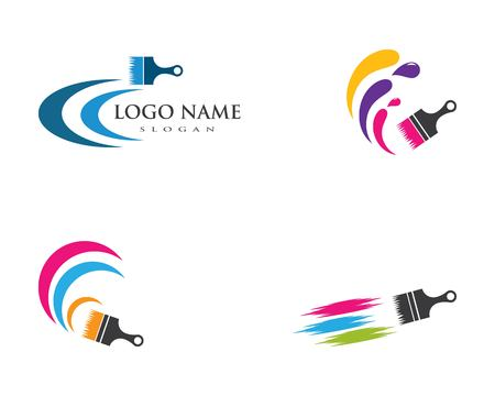 paint logo business vector icon template Standard-Bild - 113672719