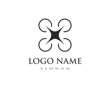 Drone logo vector template