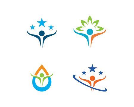 Human character logo sign,Health care logo