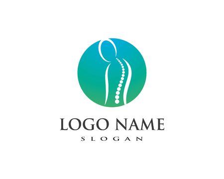 Spine diagnostics symbol logo template vector illustration design