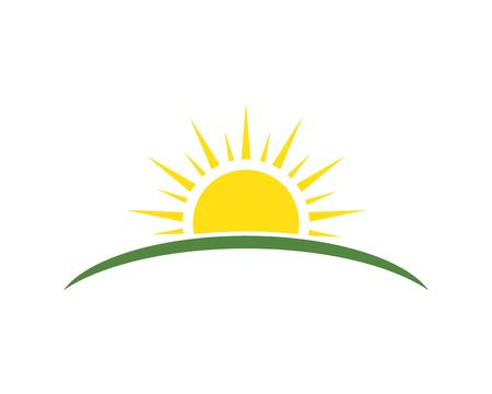 sun ilustration logo vector icon template 矢量图像