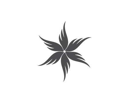 Wing fortex  Logo Template vector icon design