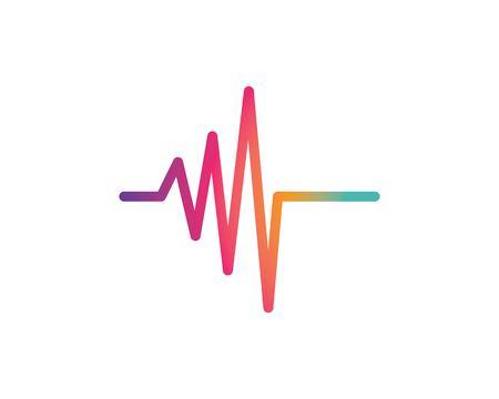 sound wave ilustration logo vector icon template Иллюстрация